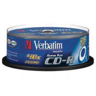 CD-R 700MB VERBATIM 52X TARRINA 25U - Imagen 1