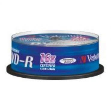 DVD-R VERBATIM 4.7GB 16X IMPRIMIBLE PACK 25U - Imagen 1