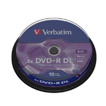 DVD+R VERBATIM DOUBLE LAYER 8X 8.5GB TARRINA 10 - Imagen 1