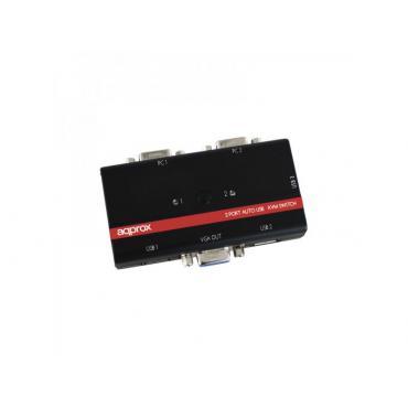 DATA SWITCH KVM 2X1 APPROX USB-VGA - Imagen 1