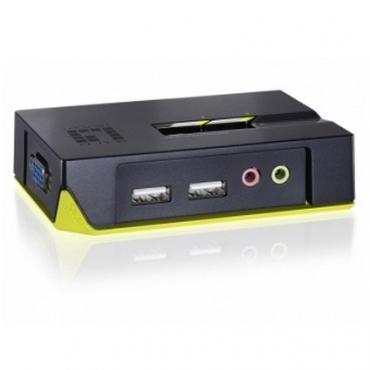 DATA SWITCH KVM 2 PUERTOS USB LEVEL ONE CON AUDIO - Imagen 1