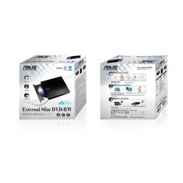 REGRABADORA DVD EXT. ASUS SLIM SDRW08D2S-B NEGRA USB2.0 - Imagen 1