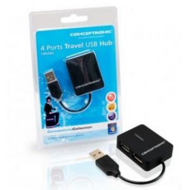 HUB USB 2.0 MINI CONCEPTRONIC 4 PUERTOS - Imagen 1