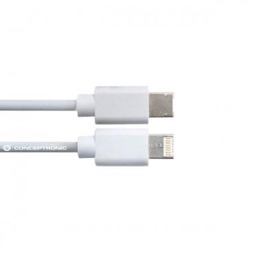 CABLE POWER2GO USB-A A USB-C 3.0 1M BLANCO - Imagen 1