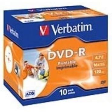 DVD-R VERBATIM -R 16X 4.7GB PK.10 PRINTABLES - Imagen 1