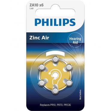 PILAS PHILIPS AUDIFONOS ZINC AIRE ZA10 PACK 6 - Imagen 1