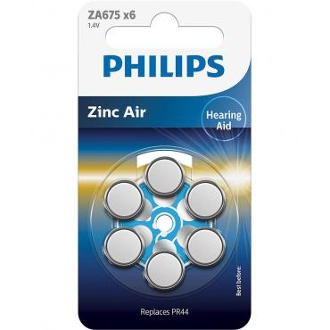 PILAS PHILIPS AUDIFONOS ZINC AIRE ZA675-PR44 PACK6 - Imagen 1