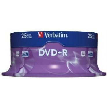 DVD+R VERBATIM 4.7GB 16X ADV AZO PACK 25U - Imagen 1